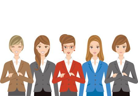 empleado de oficina: Oficina de conjunto de los trabajadores de la mujer