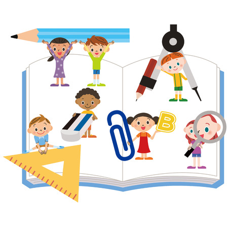 study tool and children Illustration