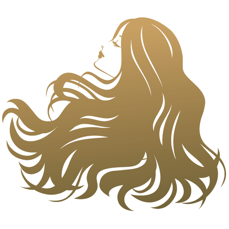 spa salon: Beauty treatment salon silhouette woman Illustration