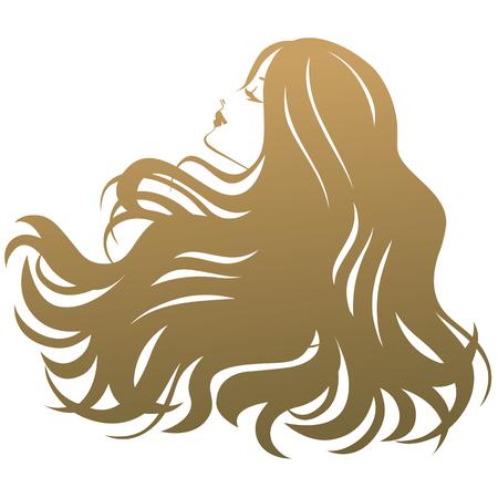 Schoonheidsbehandeling salon silhouet vrouw Stock Illustratie