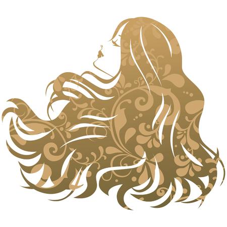 Trattamento di bellezza Salone di silhouette donna Archivio Fotografico - 47423140