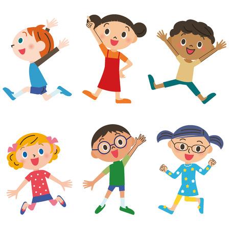 giggle: Cheerful children