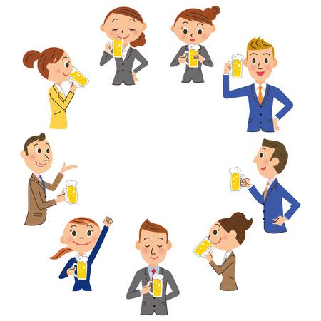 empleado de oficina: Una sesión de banquetes y beber