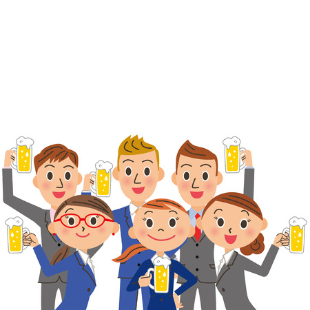 A drinking session and office worker meeting