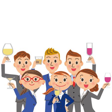Ein Trinkgelage und Büroangestellte Treffen Standard-Bild - 47423151