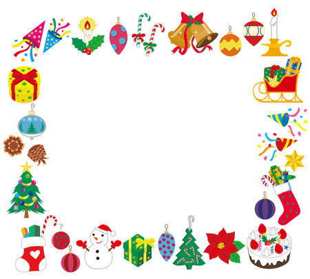 christmas cracker: frame which is square on Christmas