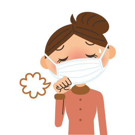 illness: woman who coughs