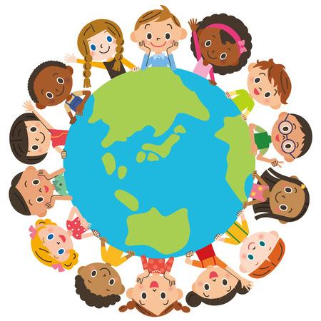 buen vivir: Los niños alrededor de la tierra