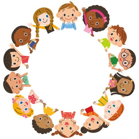 Kinder Treffen Illustration