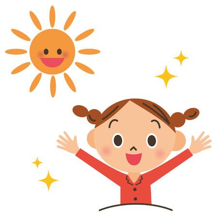 levantandose: Niño del acostarse y levantarse