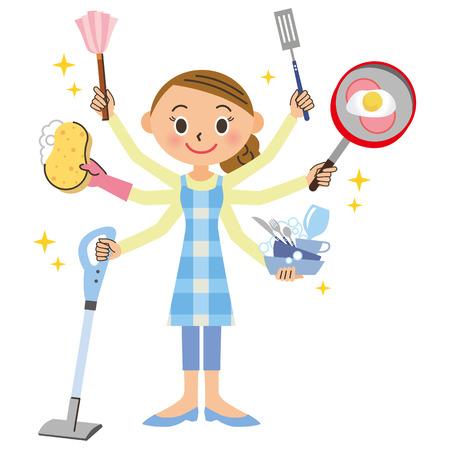 mujer ama de casa: Las tareas del hogar y ama de casa