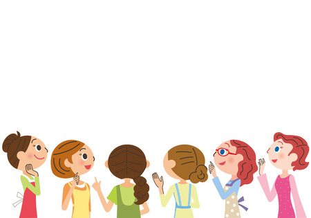 Huisvrouw vergadering Stock Illustratie