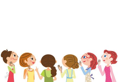 spotkanie housewife Ilustracje wektorowe