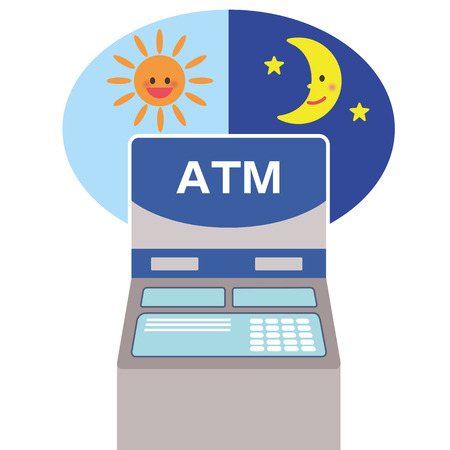 midday: Automated-teller machine Illustration