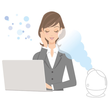 facial steamer: use a beauty apparatus in an office