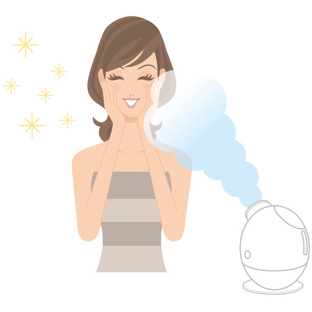moisturize: moisturize skin with a beauty apparatus Illustration