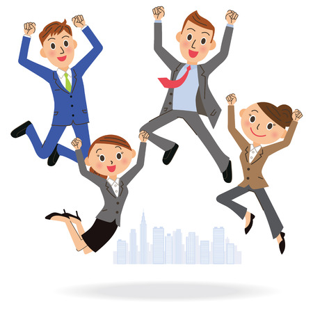 office worker: office worker who jumps