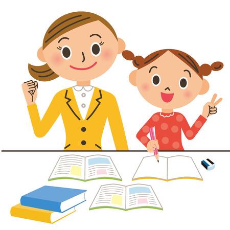tutor: tutor and child