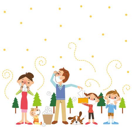 Pollen et de la famille