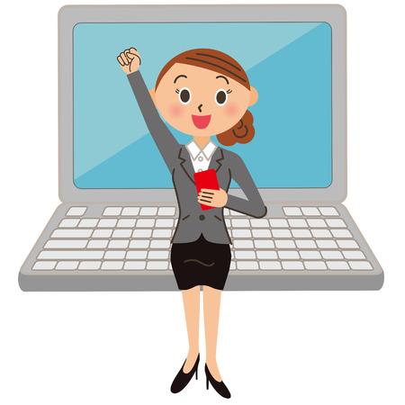 working woman: Working woman Illustration