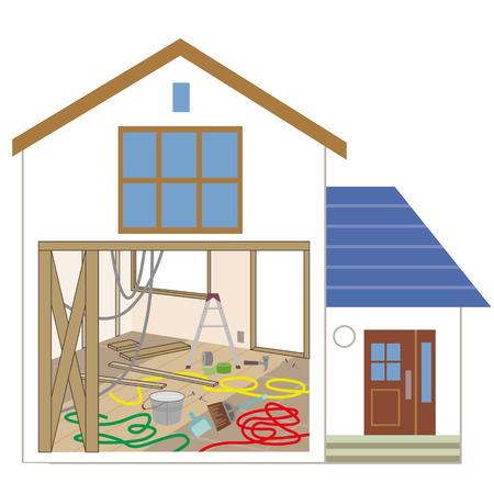 resale: The interior decoration construction spot