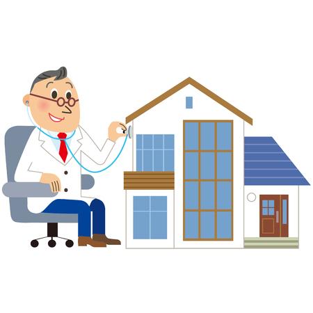 a medical examination: Medical examination of the house