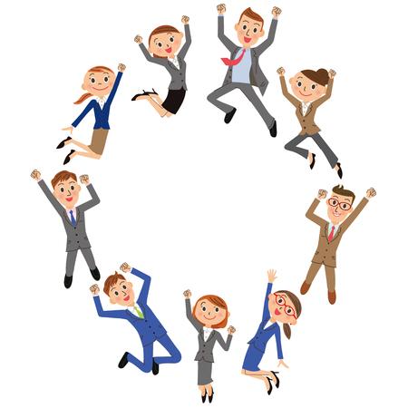 empleado de oficina: oficinista que salta