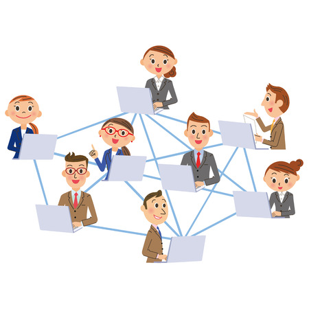 network and office worker