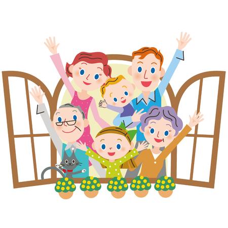 Healthy family 向量圖像