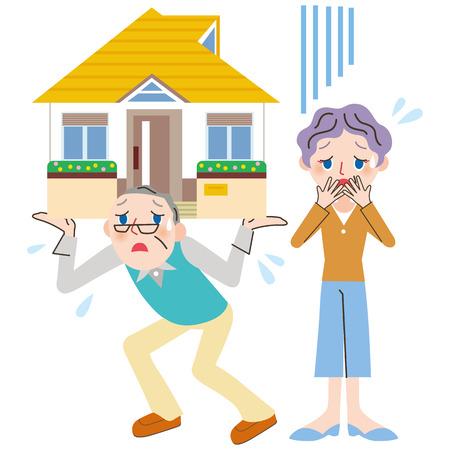 home loan and senior generation Illustration