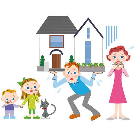 住宅ローンと家族 写真素材 - 51982166