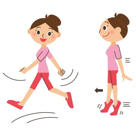 stride: Walking diet Illustration