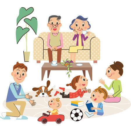 生活と 3 世代家族