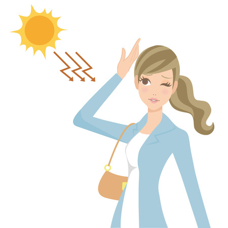 woman who takes ultraviolet rays
