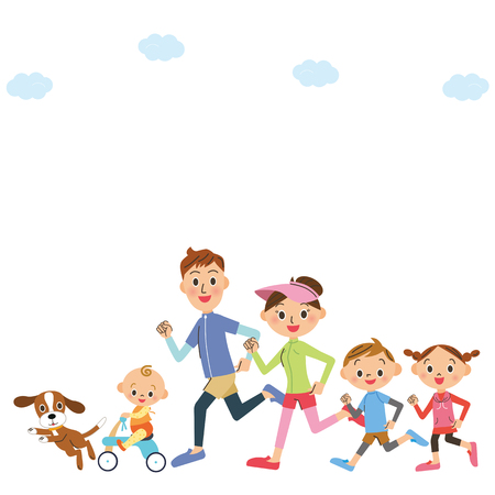 jogging: run in families