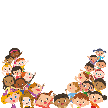 blank spaces: Child meeting Illustration