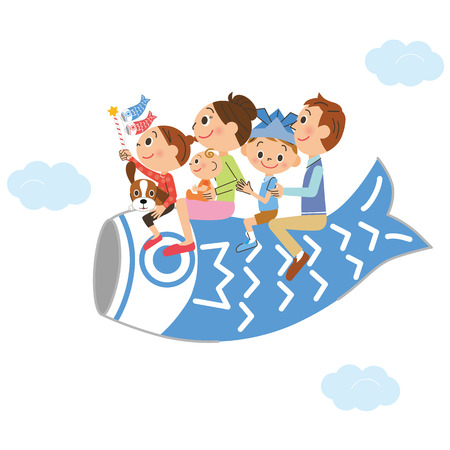 childrens day: Family and Childrens Day Illustration