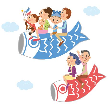 세 세대 가족과 어린이 날