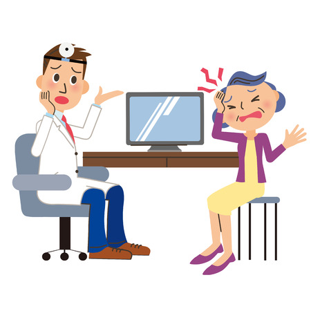 doctor exam: Grandmother whom I examine