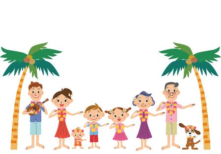 oahu: Hawaiian trip and three-generation family
