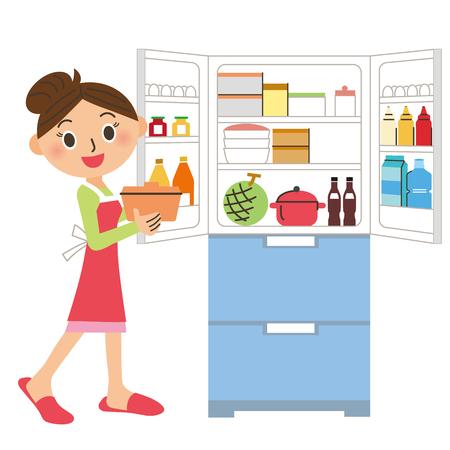refrigerador que se pone en orden Ilustración de vector