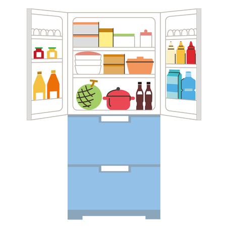 refrigerator which is put in order  イラスト・ベクター素材