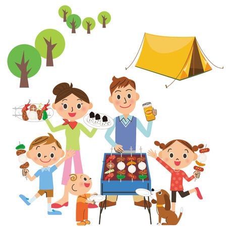 staying: Parent and child who camp