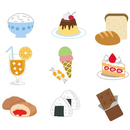 confectionery: Food illustration