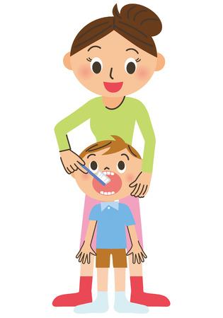 Toothbrushing Иллюстрация