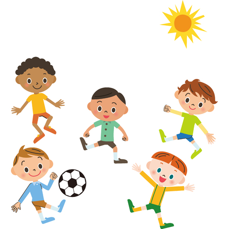 fine weather: Soccer and boy