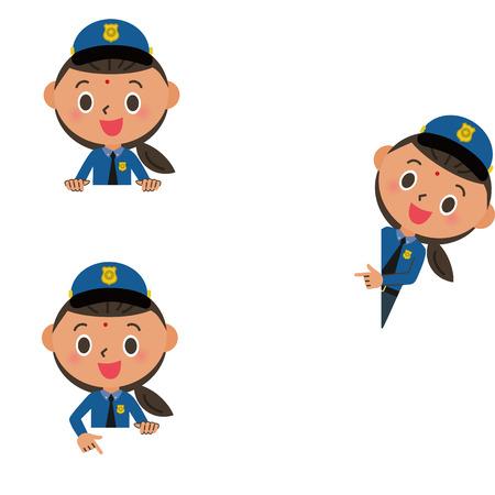 copy: Child, police officer, copy space