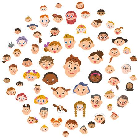plural number: large number of people Illustration