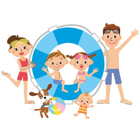 Familie und Sommer