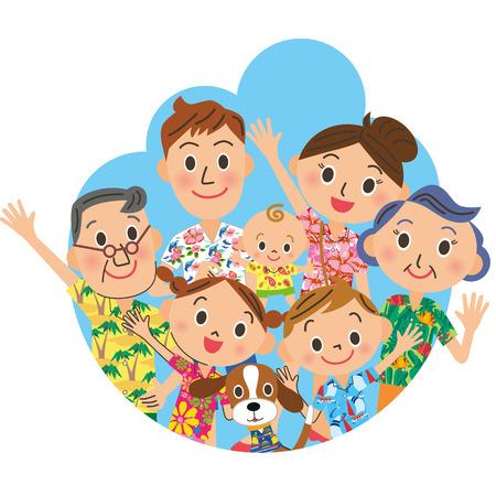 thunderhead: Family in a Hawaiian shirt